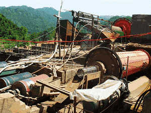 A Small Stone Crusher Machine Is Driven By An Elec
