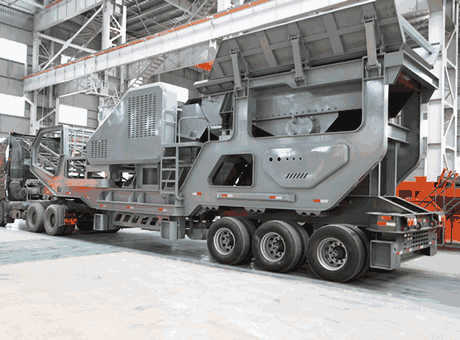 portable mounted impact crusher in the stone quarry plant