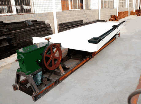 tangible benefits environmental iron ore shaking table